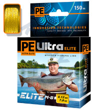 Пл. шнур PE Ultra Elite M-8 Yellow 0,16 мм   150 м