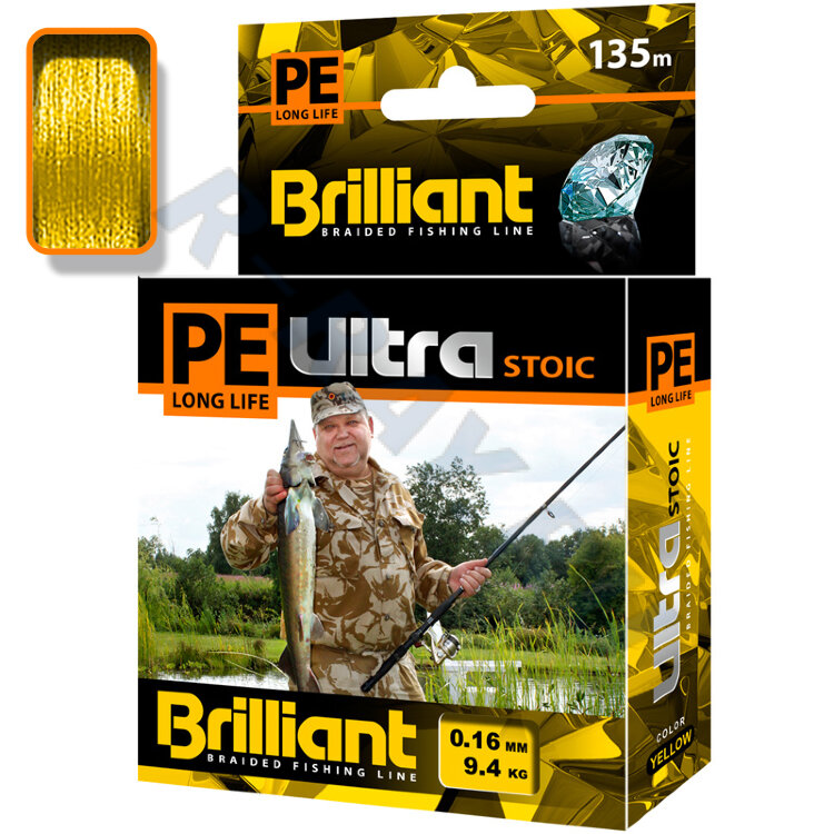 Плетеный шнур PE Ultra Brilliant Stoic Ultra Yellow 135 m 0.16 mm