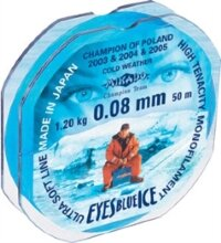 "Леска""Eyes Blue Ice"".0.08 25м (уп. 10шт)    Mikado"